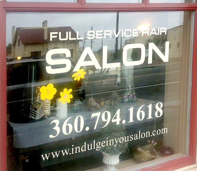 Front view of the Salon